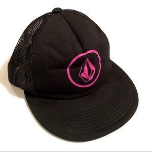 Volcom Trucker Hat Black And Pink